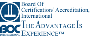 We are a accredited provider with Board of Certification/ Accreditation, Internation