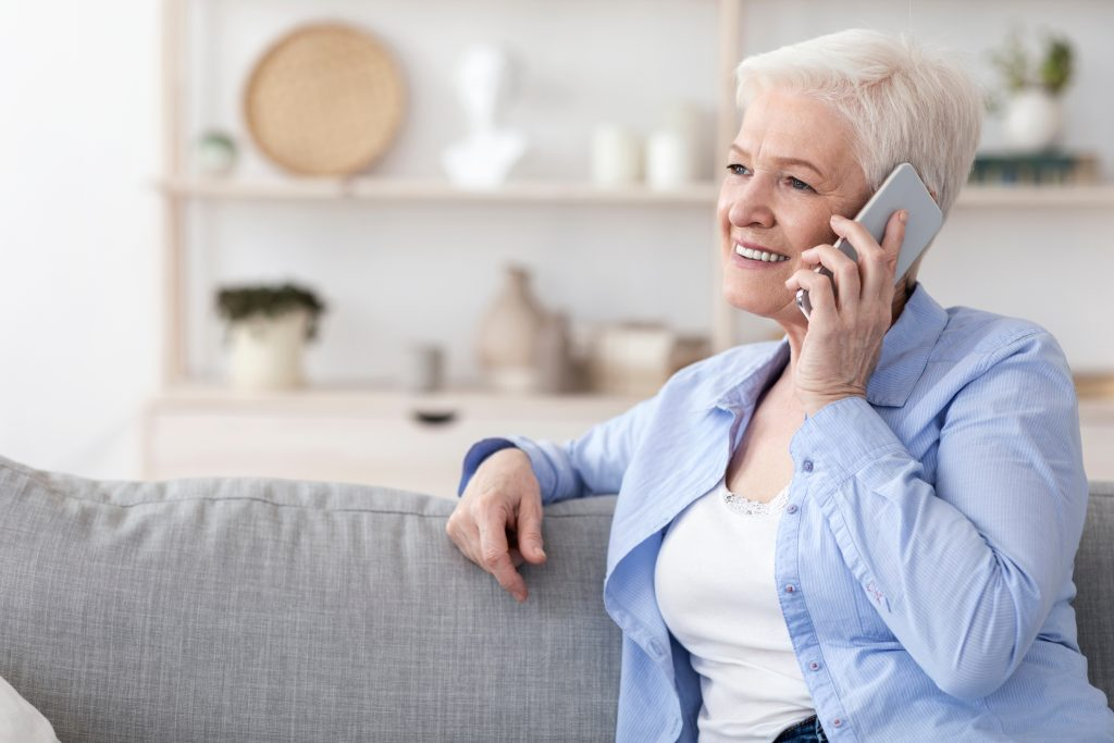 Image showing woman on phone