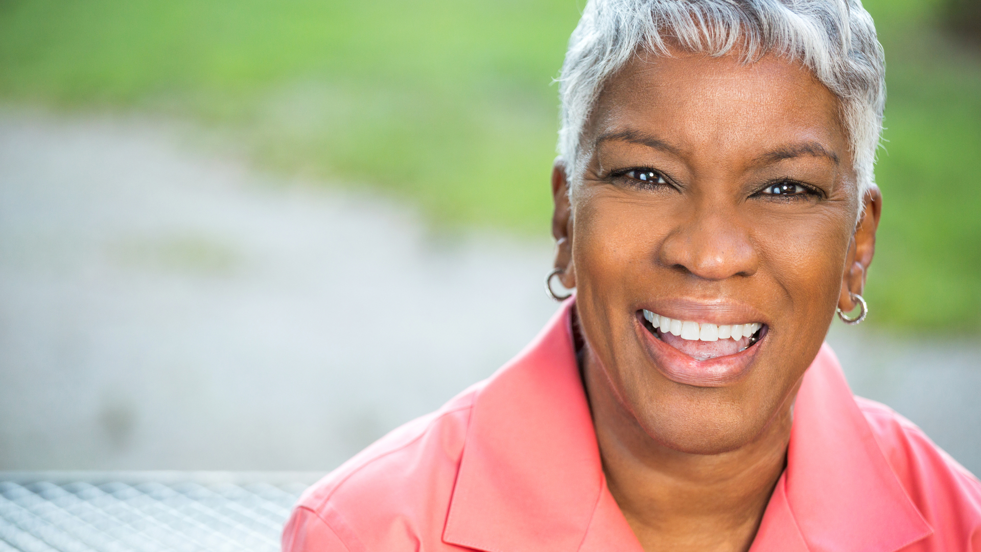 Image showing smiling woman. Catheters for women are designed for comfort and ease-of-use.