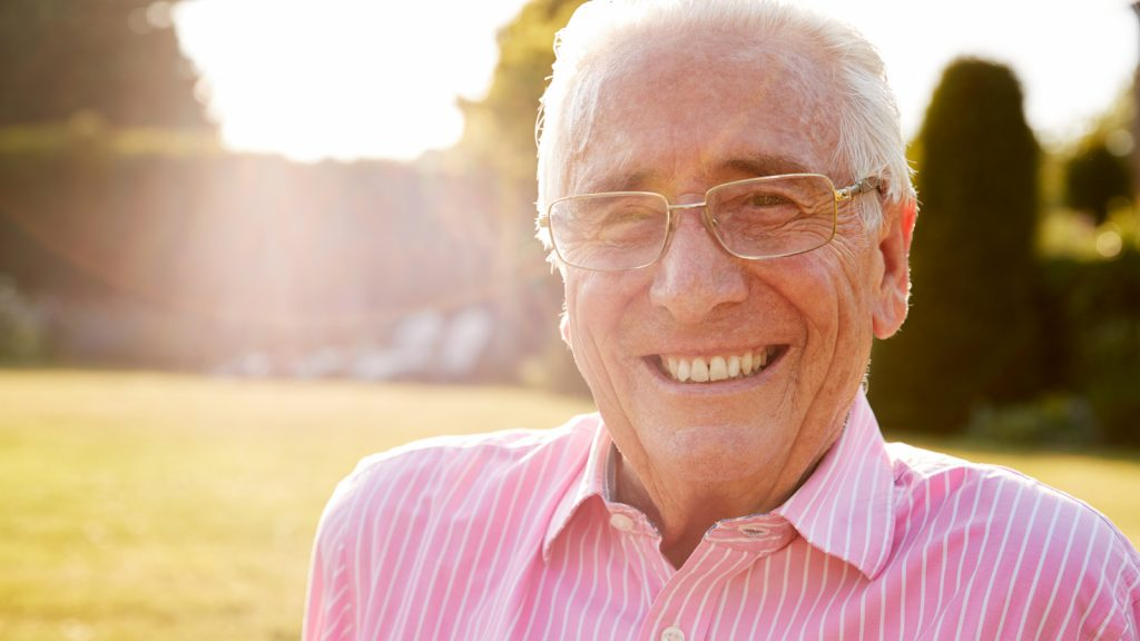 Image of man smiling in sunshine outside. Active Life Medical can help you with all of your Foley catheter needs.