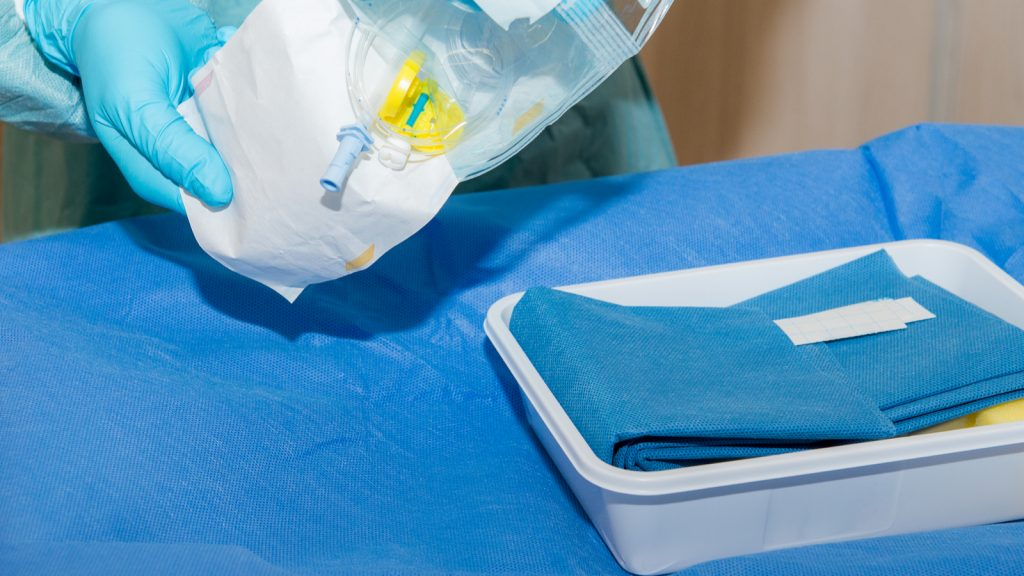 Catheter kits, such as the one pictured, make cathing simpler and more convenient.